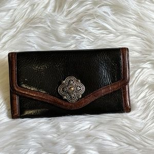 Black & Brown Leather Brighton Wallet